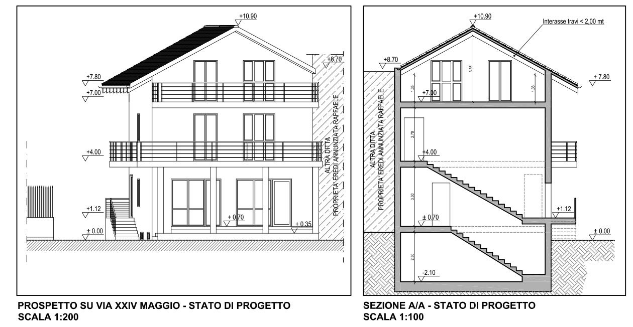 Progetto casa annunziata g with progetti casa for Progetti di casa sollevati