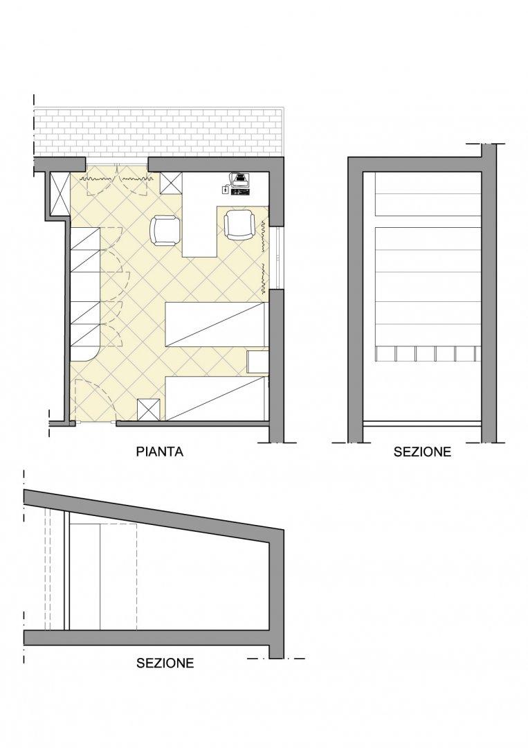 Progetto di arredo di una cameretta per bambini for Piani a pianta doppia con seminterrato