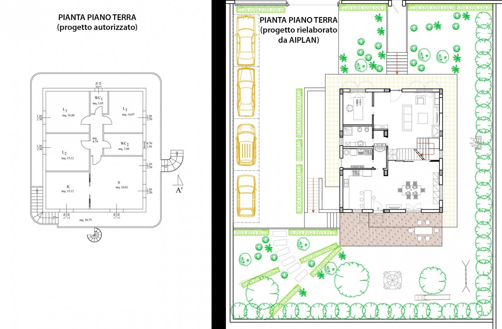 Progetto casa d 39 amora l poggiomarino na aiplan for Planimetria interna