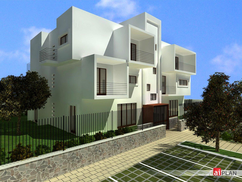 Rendering esterni di edifici e residenze aiplan for Piano di progettazione di edifici commerciali