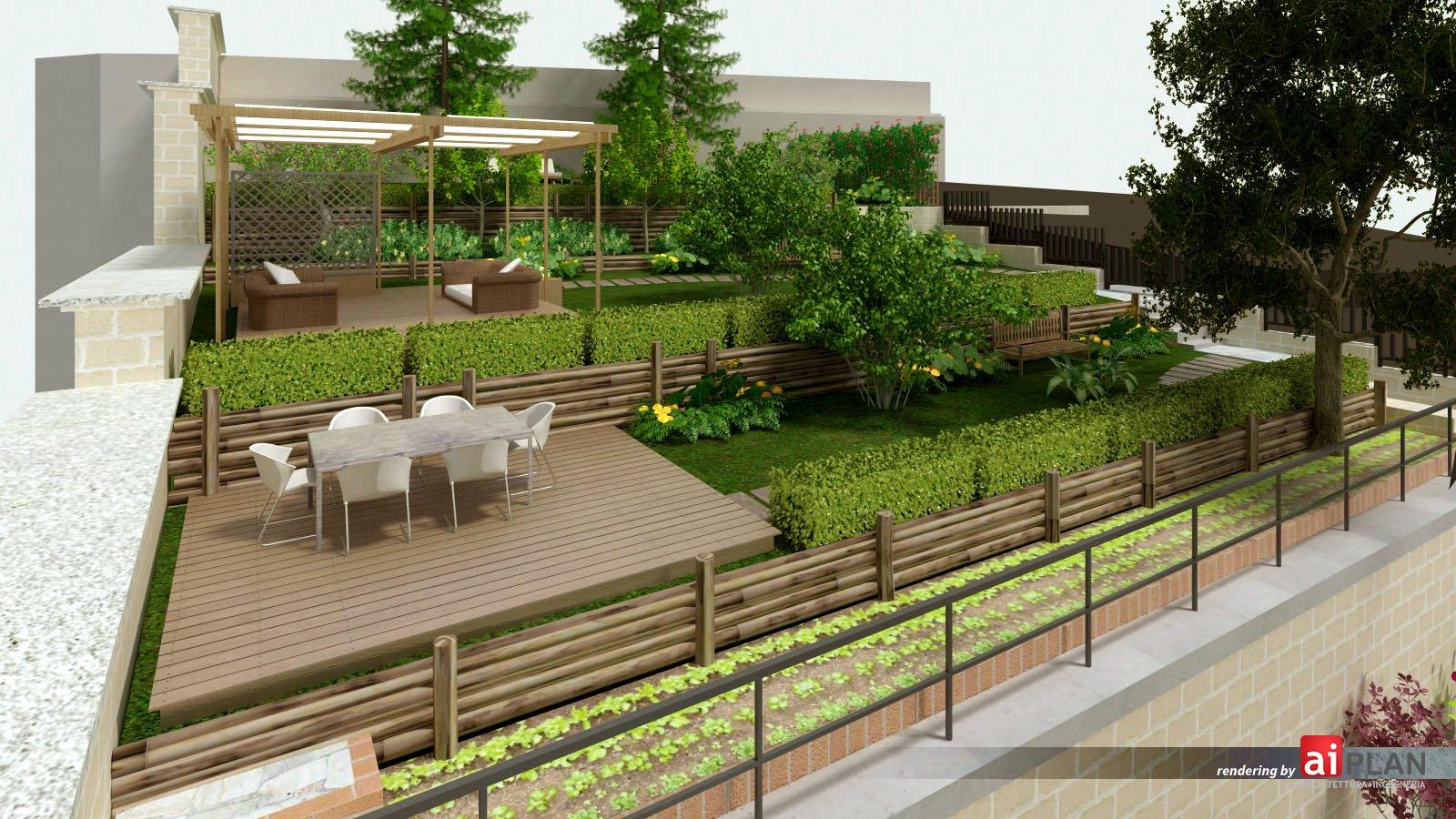 Rendering di giardini parchi e sistemi di verde aiplan for Rendering giardino