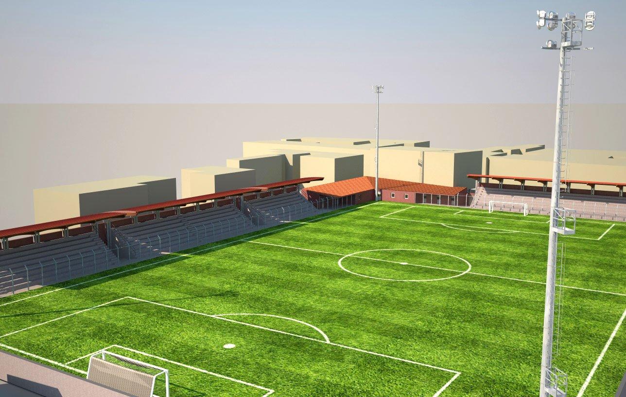 Illuminazione campo da calcio a happycinzia