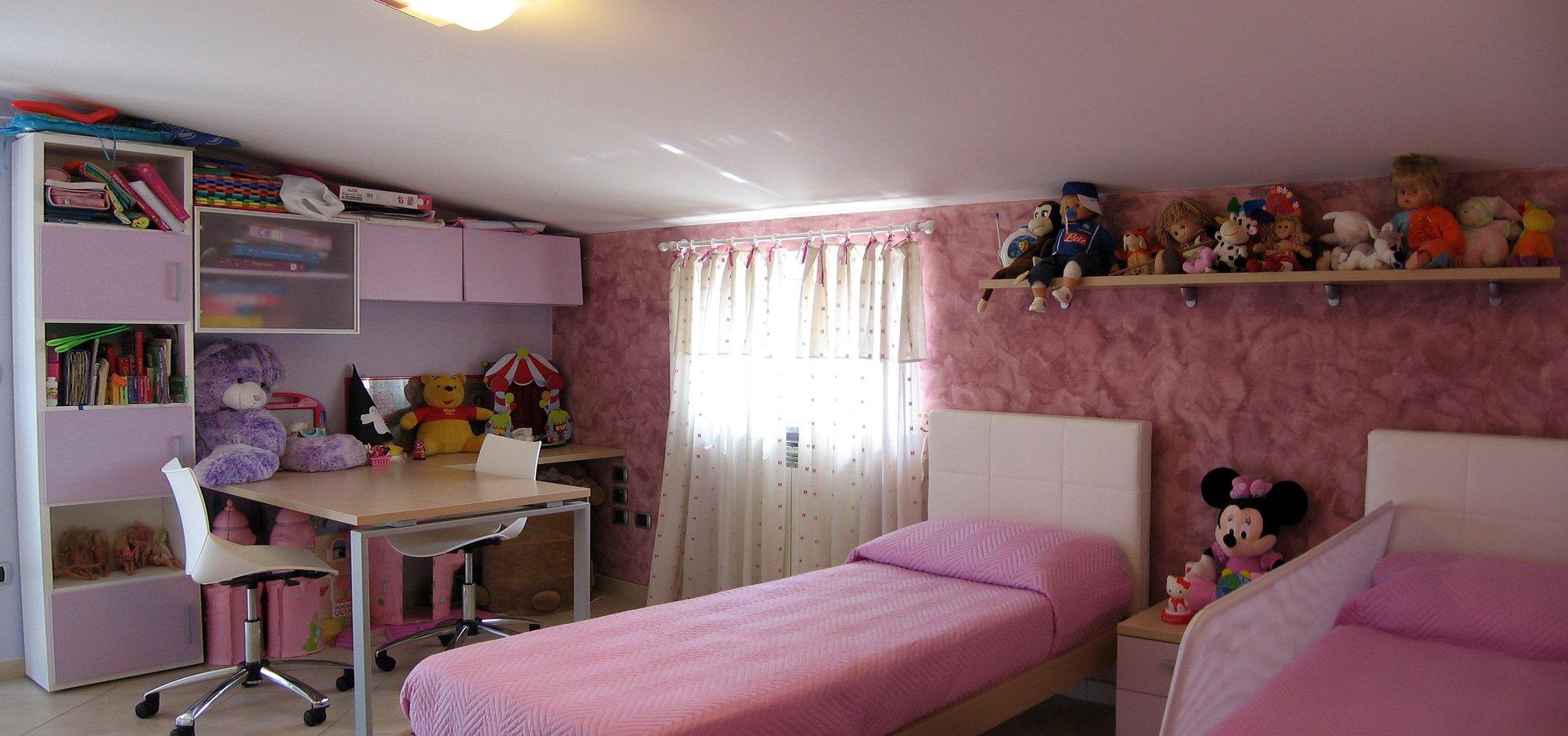 Progetto di arredo di una cameretta per bambini poggiomarino na aiplan architettura e - Pittura per cameretta ...