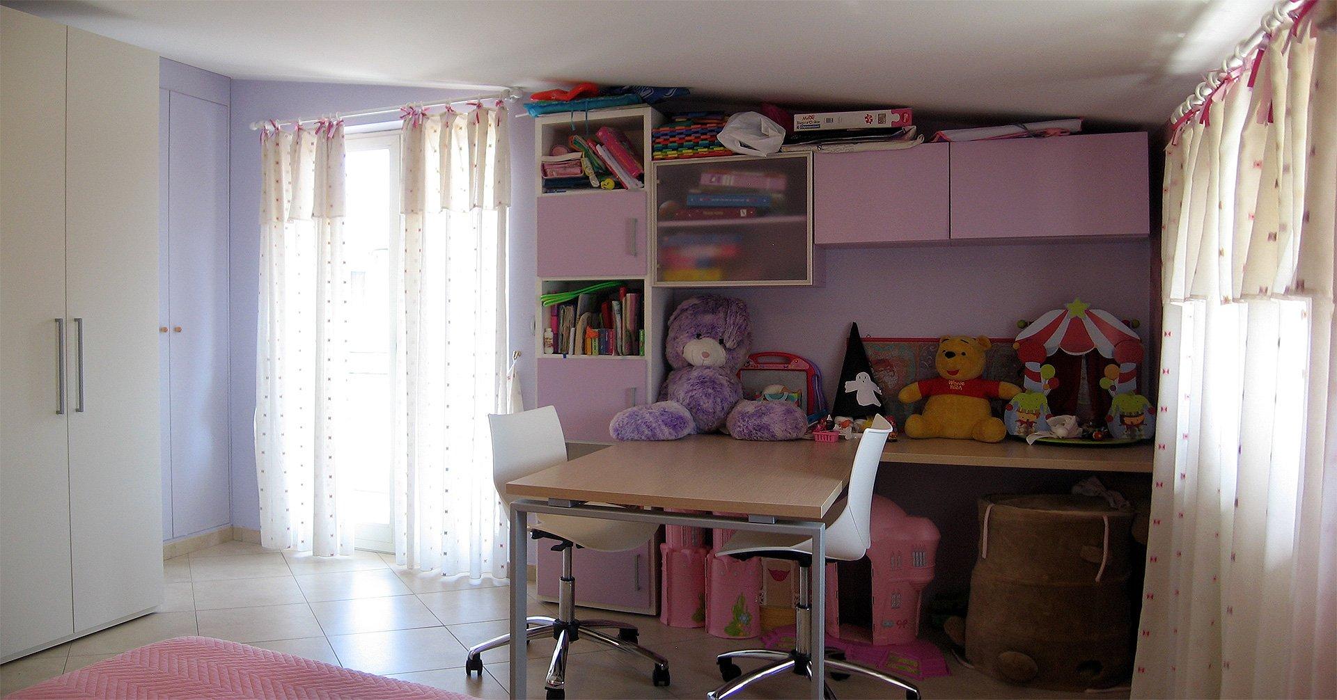 Progetto di arredo di una cameretta per bambini - Camera per bambina ...