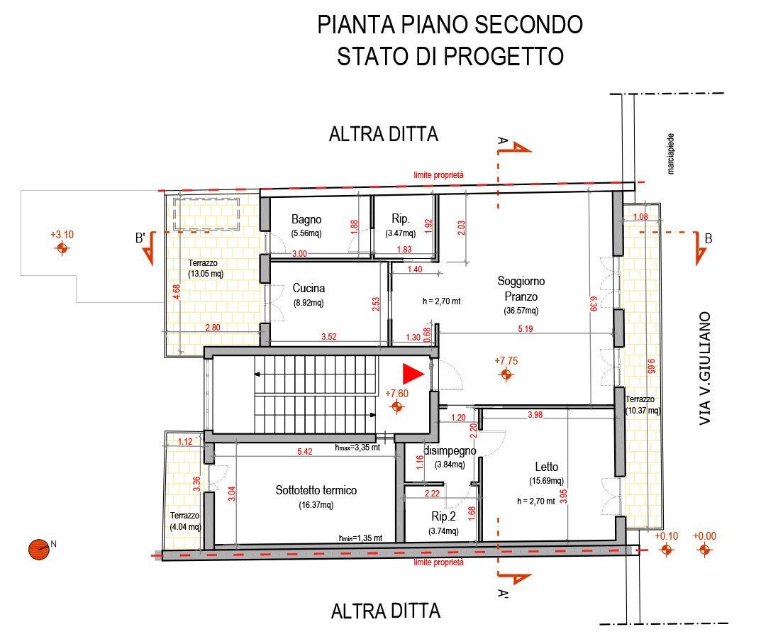 Progetto casa catalano e poggiomarino na aiplan - Casa in muratura portante ...