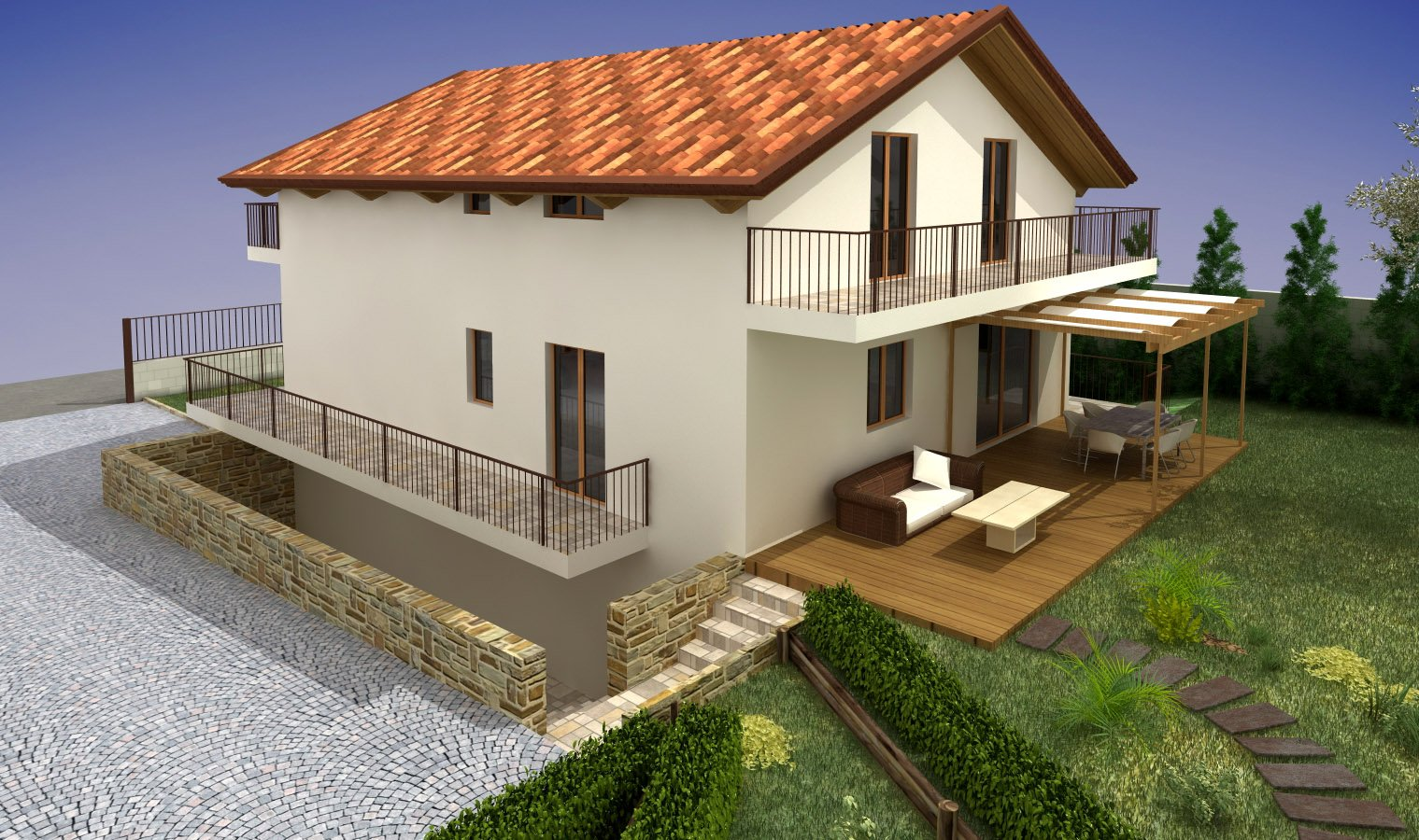 Progetto casa d 39 amora l poggiomarino na aiplan architettura e ingegneria - Progetto casa design ...