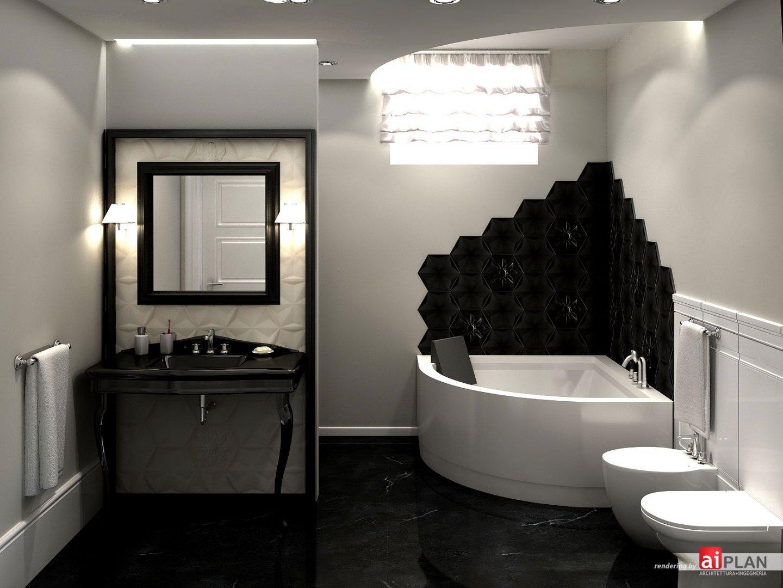 Interni di residenze aiplan architettura e ingegneria - Cartongesso per bagno ...