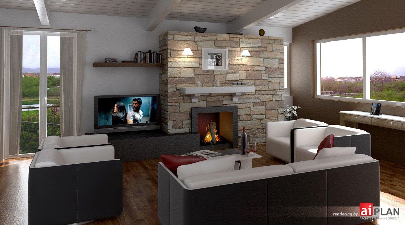 Interni di residenze aiplan architettura e ingegneria for Progetti design interni